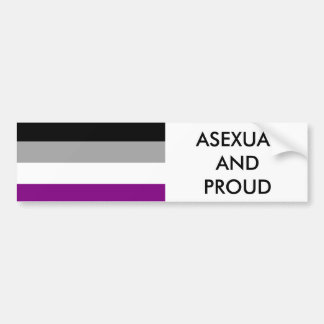 Asexual Pride Bumper Sticker 1