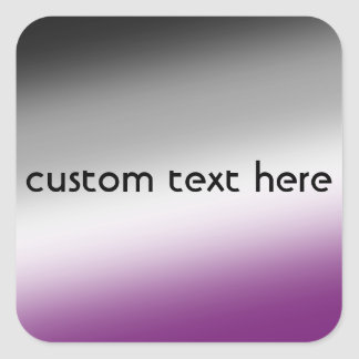 Asexual pride colors — custom text square sticker