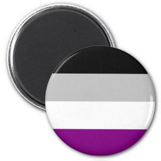 Asexual Pride Flag 6 Cm Round Magnet