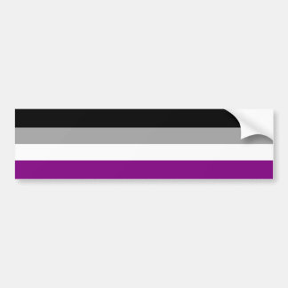 Asexual Pride Flag Bumper Sticker