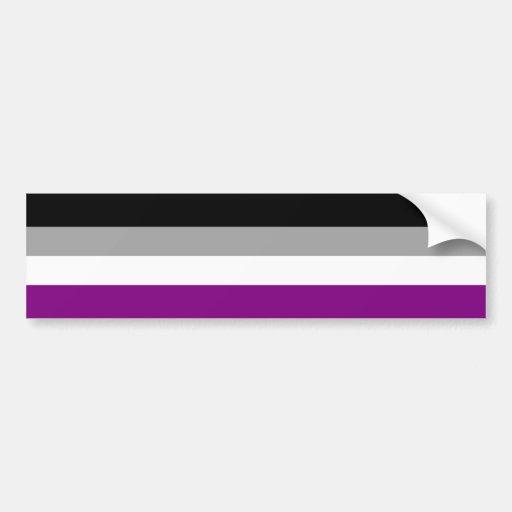 Asexual Pride Flag Bumper Sticker
