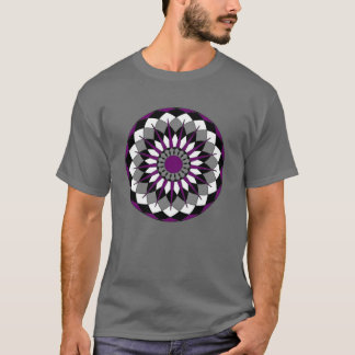 Asexual Pride Flag Colors Mandala LGBT T-Shirt