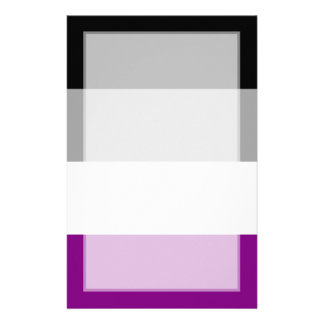 Asexual Pride Flag Personalized Stationery