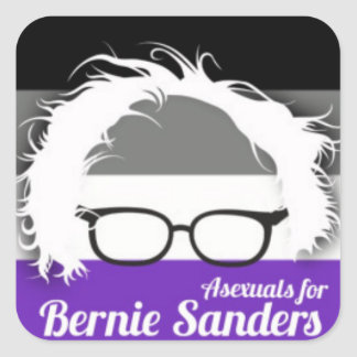 Asexual pride for Bernie Sanders Square Sticker