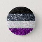Asexual Pride glitter button