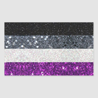 Asexual Pride glitter sticker