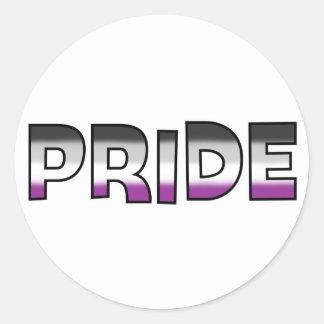 Asexual Pride Round Sticker