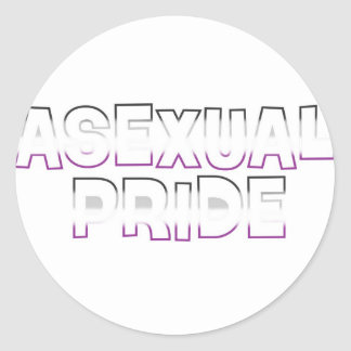 Asexual Pride Round Sticker