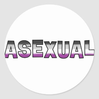 Asexual Pride Round Stickers