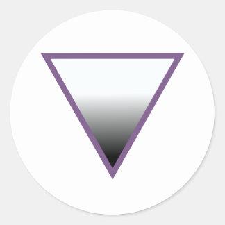Asexual Symbol Classic Round Sticker