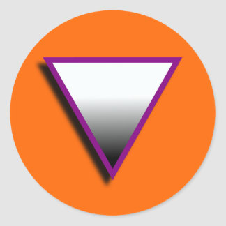 ASEXUAL TRIANGLE SYMBOL 3D ROUND STICKER