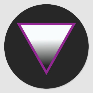 ASEXUAL TRIANGLE SYMBOL 3D STICKERS