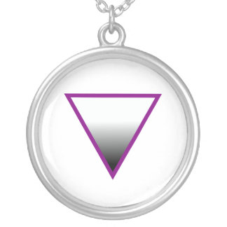 ASEXUAL TRIANGLE SYMBOL SILVER PLATED NECKLACE