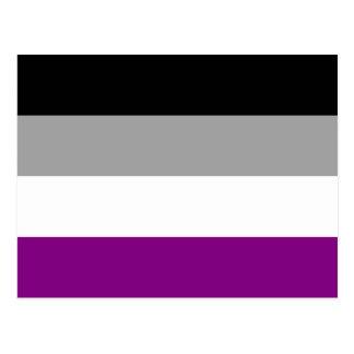 Asexuality pride flag Postcard Postcard