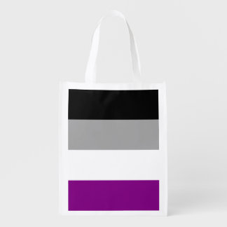 Asexuality pride flag reusable grocery bag