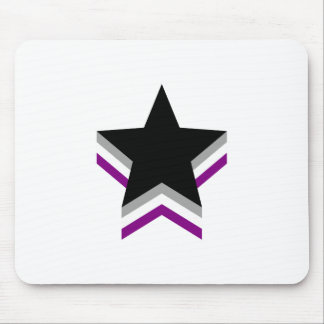 Asexuality pride stars mouse mat