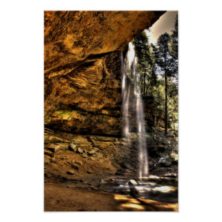 Ash Cave waterfall, Hocking Hills, Ohio Poster