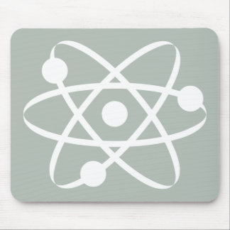 Ash Gray Atom Mouse Pads