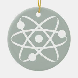 Ash Gray Atom Round Ceramic Decoration