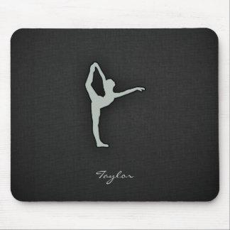 Ash Gray Ballet Dancer Mouse Pad