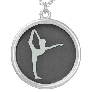 Ash Gray Ballet Dancer Necklaces