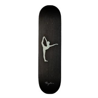Ash Gray Ballet Dancer Custom Skateboard