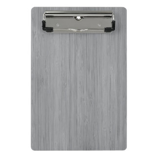 Ash Gray Bamboo Wood Grain Look Mini Clipboard