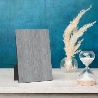 Ash Gray Bamboo Wood Grain Look Plaque