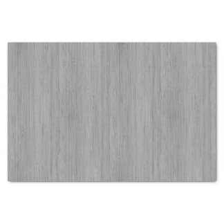 Ash Gray Bamboo Wood Grain Look Tissue Paper