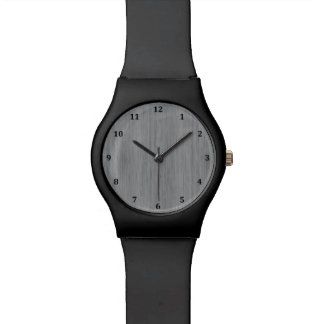 Ash Gray Bamboo Wood Grain Look Watch