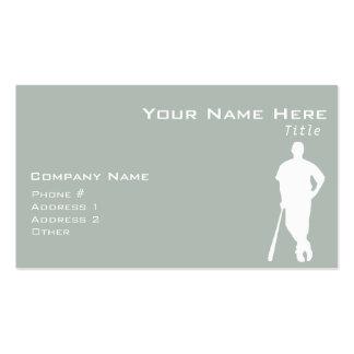 Ash Gray Baseball Business Card Template
