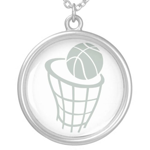 Ash Gray Basketball Pendant