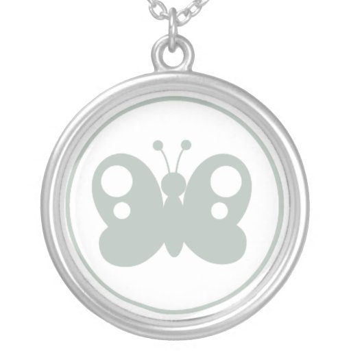 Ash Gray Butterfly Custom Necklace