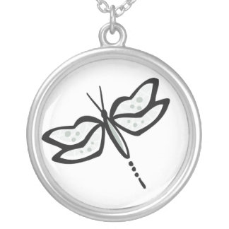 Ash Gray Dragonfly Custom Necklace