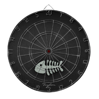 Ash Gray Fish Bones Dartboard