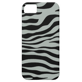 Ash Gray; Grey and Black Zebra Animal Print iPhone 5 Cases