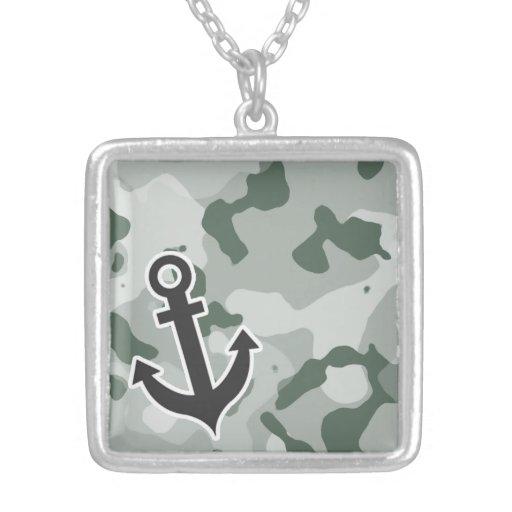 Ash Gray; Grey Camo; Anchor Necklace