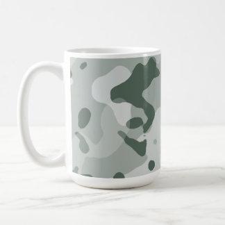 Ash Gray; Grey Camo; Camouflage Classic White Coffee Mug