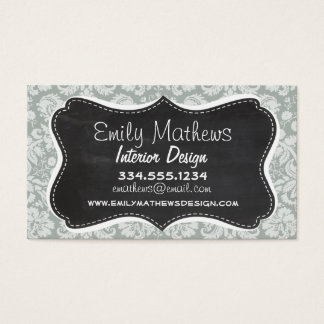 Ash Gray; Grey Damask Pattern; Chalkboard look