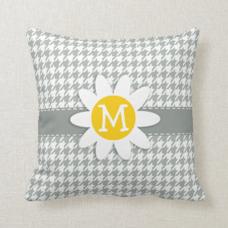 Ash Gray; Grey Houndstooth; Daisy Cushion