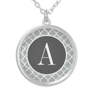 Ash Gray; Grey Quatrefoil Pendant