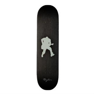 Ash Gray Guitar Player Skate Boards