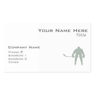 Ash Gray Hockey Business Card Templates