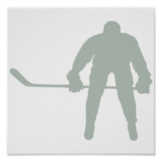 Ash Gray Hockey Poster