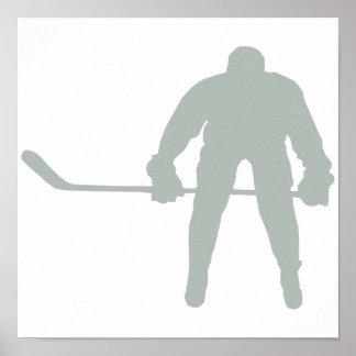 Ash Gray Hockey Poster