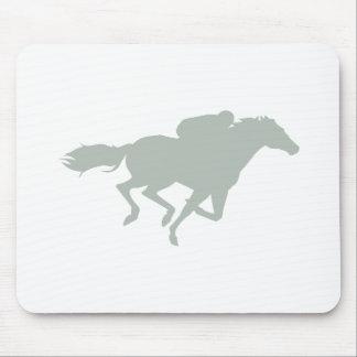 Ash Gray Horse Racing Mouse Pad