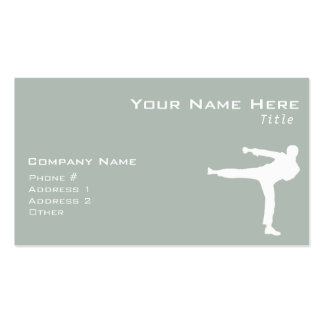 Ash Gray Martial Arts Pack Of Standard Business Cards