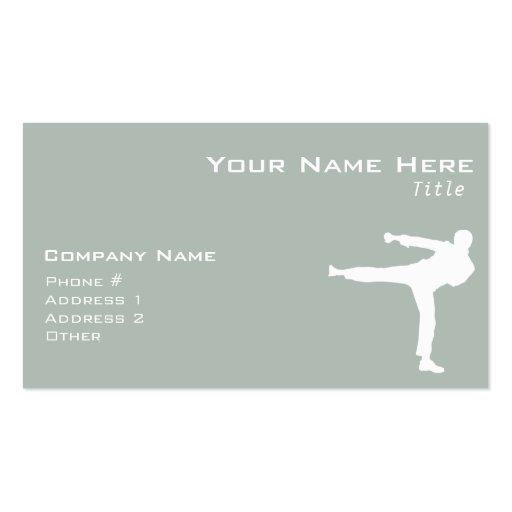 Ash Gray Martial Arts Business Card
