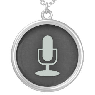 Ash Gray Microphone Necklaces