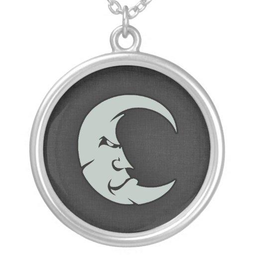 Ash Gray Moon Necklace